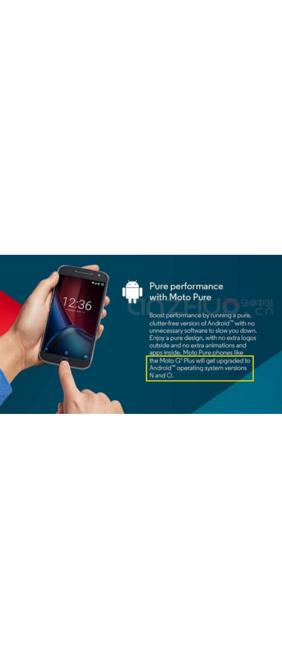 Moto G4 Plus se actualizar� a Android O