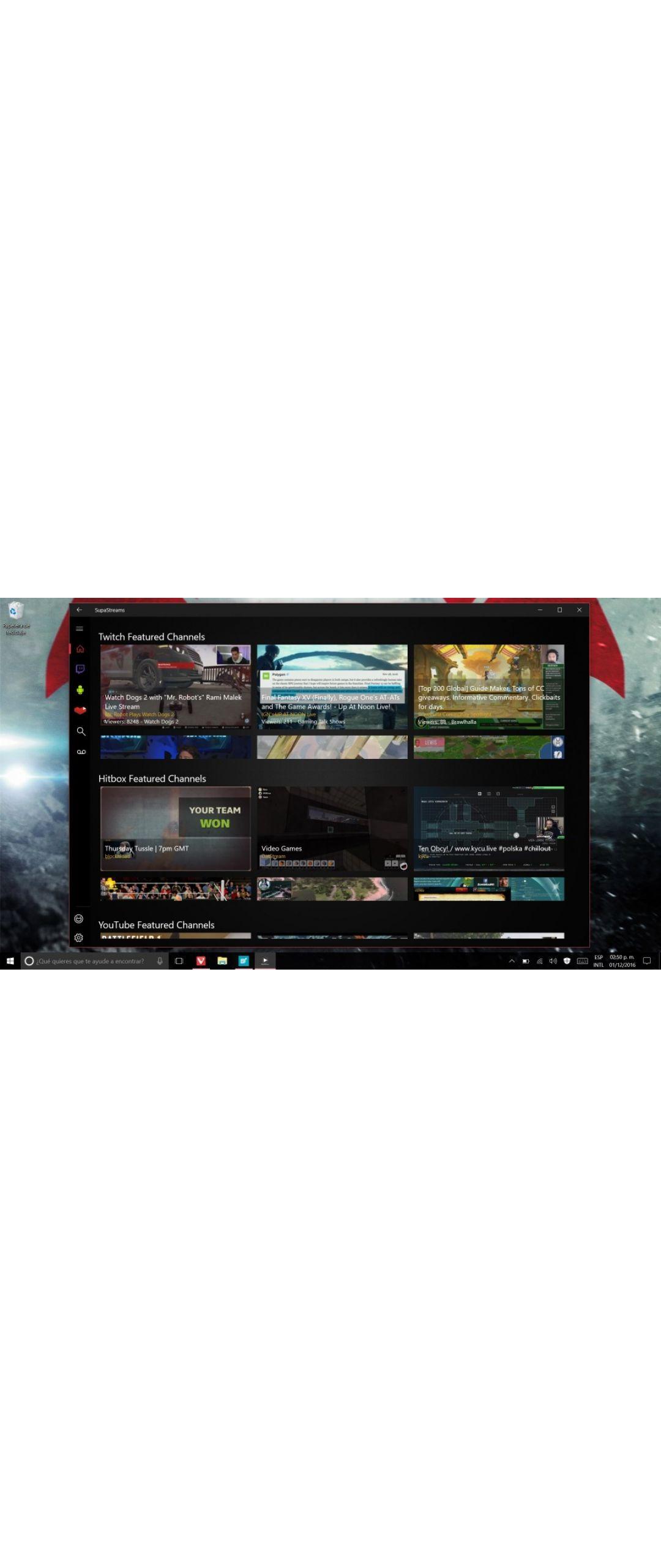SupaStreams junta los streamings de Twitch, YouTube y Hitbox en una app