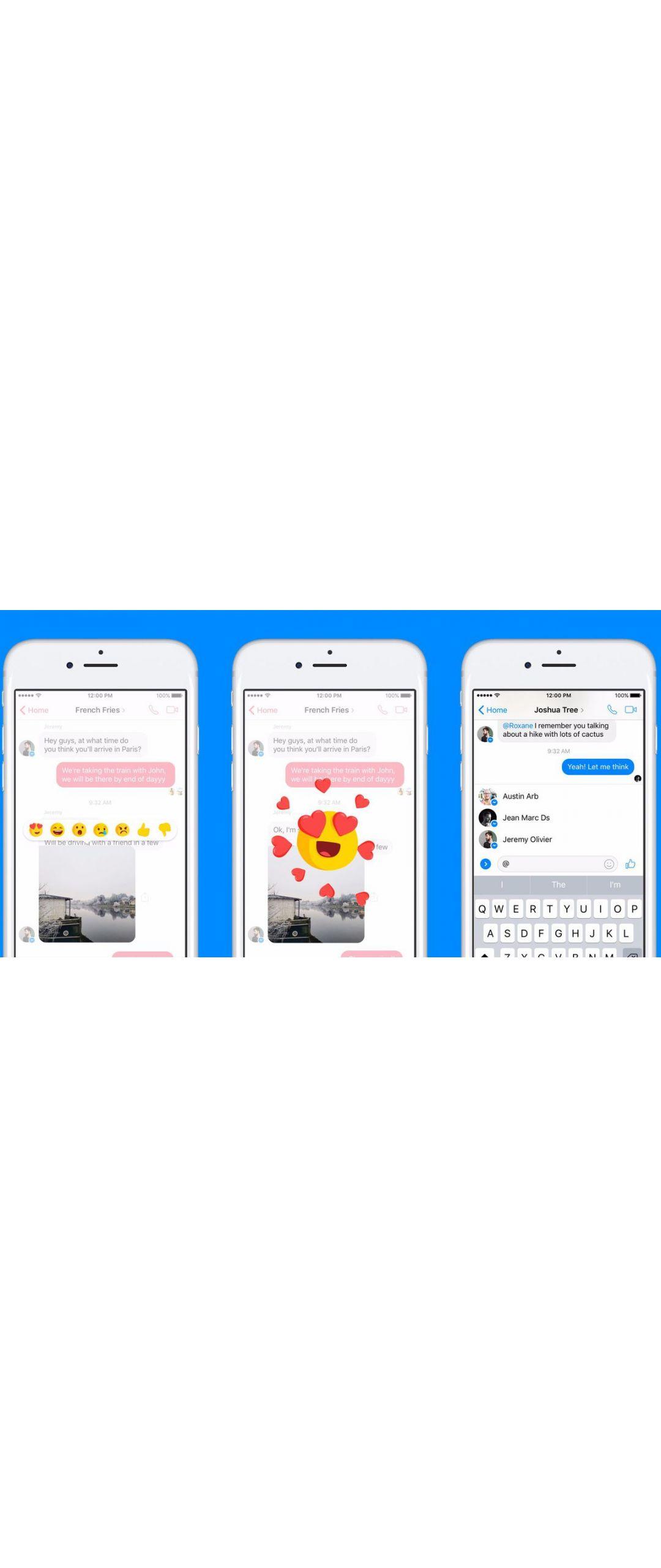 Ya puedes reaccionar a los mensajes en Facebook Messenger