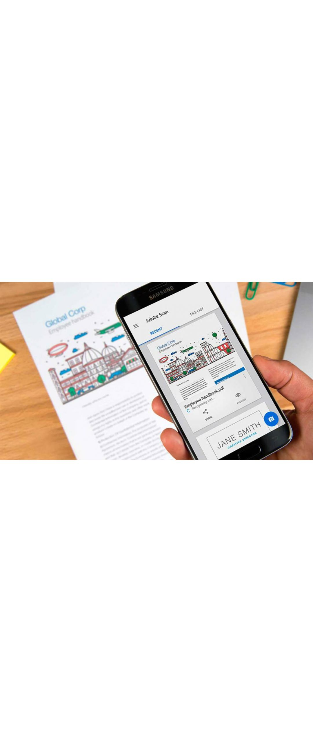 Adobe lanza aplicación para escanear documentos