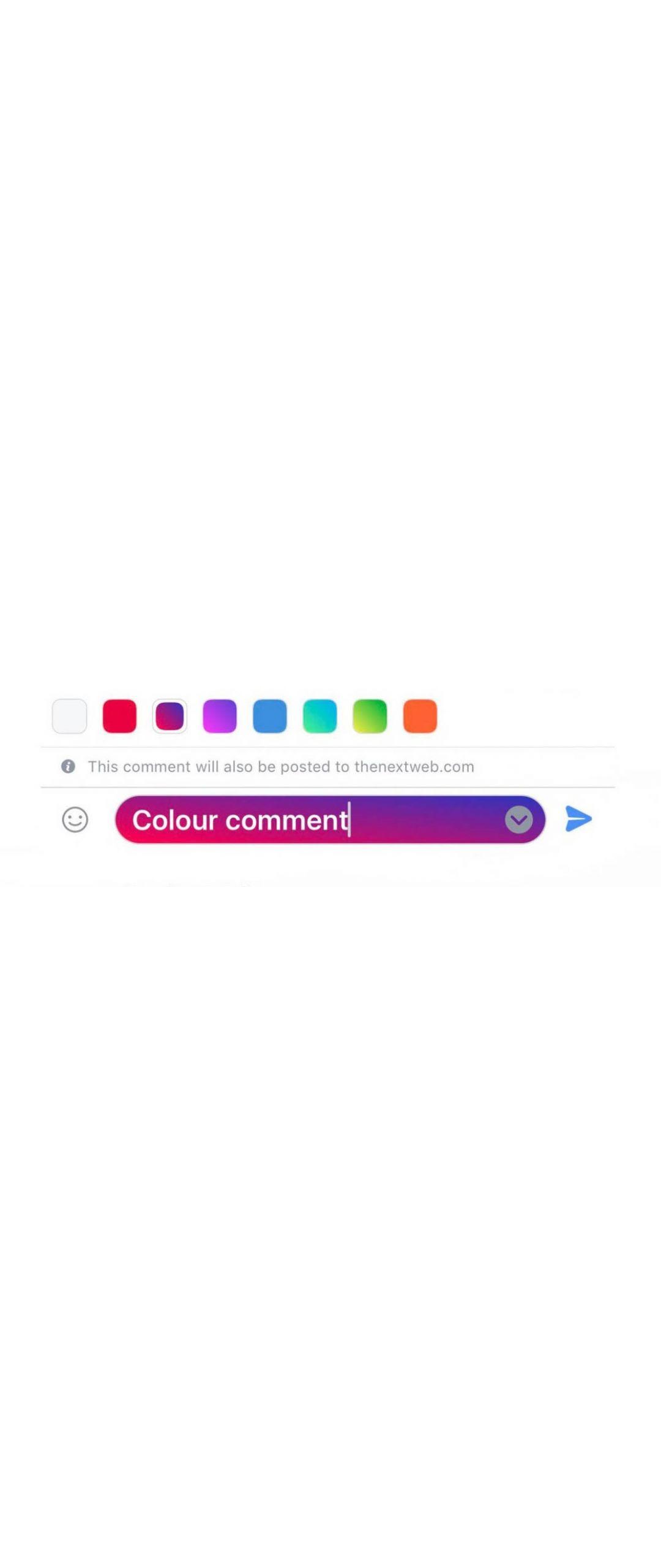 Facebook está probando comentarios coloridos en su aplicación