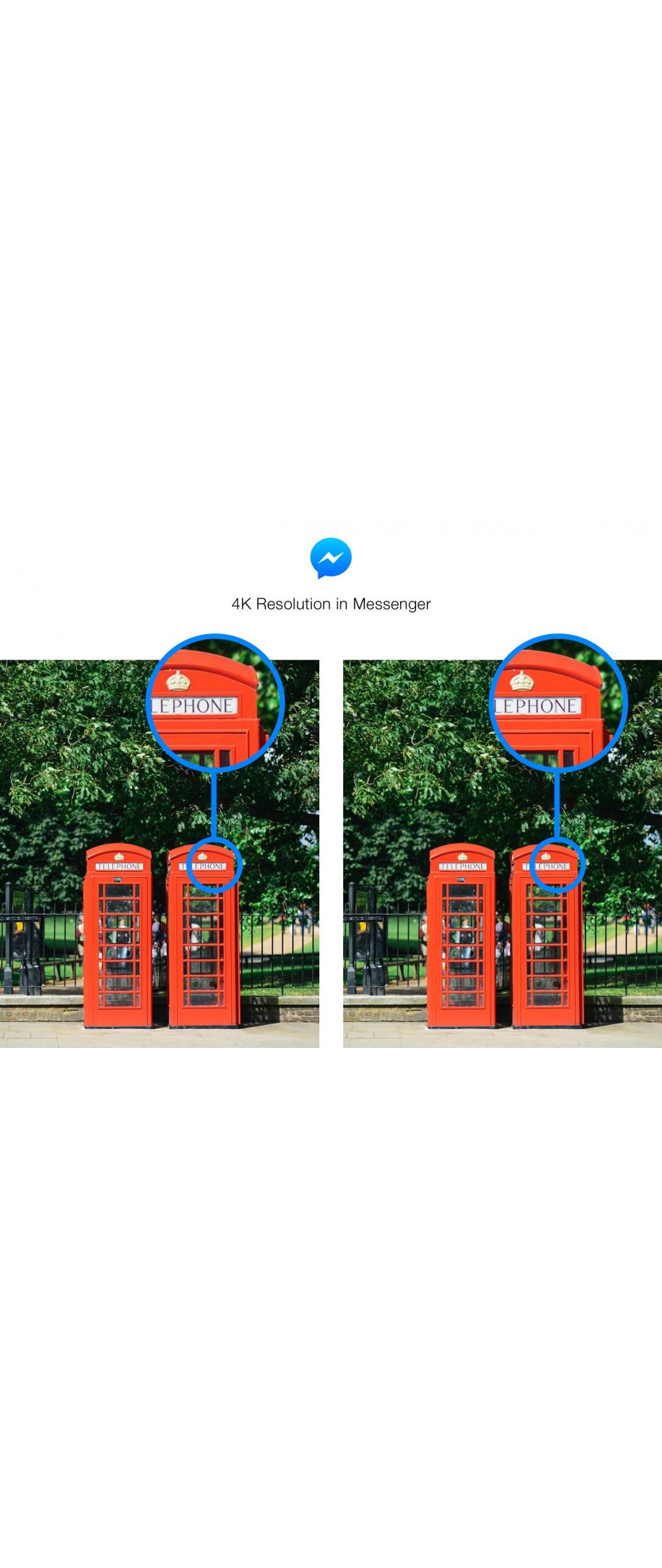 Facebook Messenger ya soporta envío de fotografías en 4K