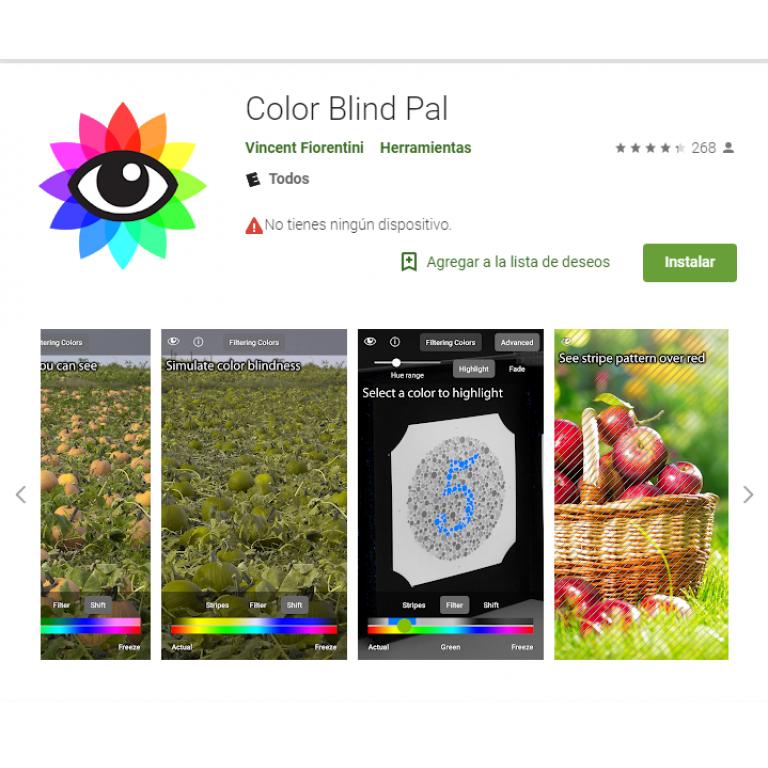 Lanzan aplicación que busca ayudar a personas con daltonismo
