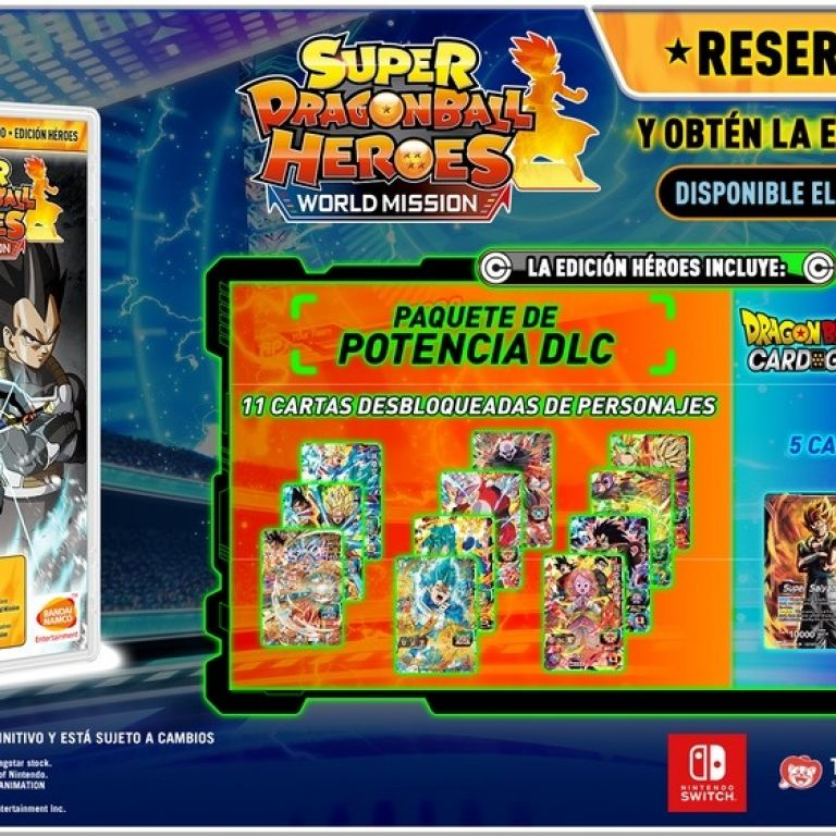 "Super Dragon Ball Heroes: World Mission tendrá una edición especial llamada ""Héroes"""