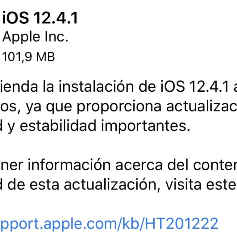 Apple lanza iOS 12.4.1 para eliminar el jailbreak de sus dispositivos