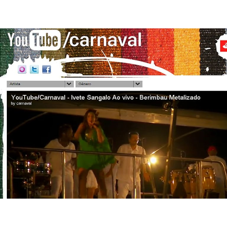 El Carnaval de Bahía, en directo por YouTube