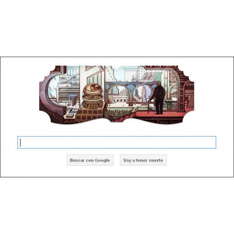Google rinde homenaje a Borges con su Doodle