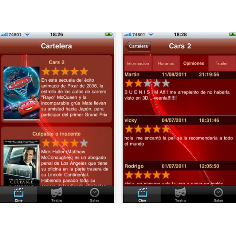 Ya está disponible la aplicación para consultar cartelera uruguaya desde iPad y iPhone