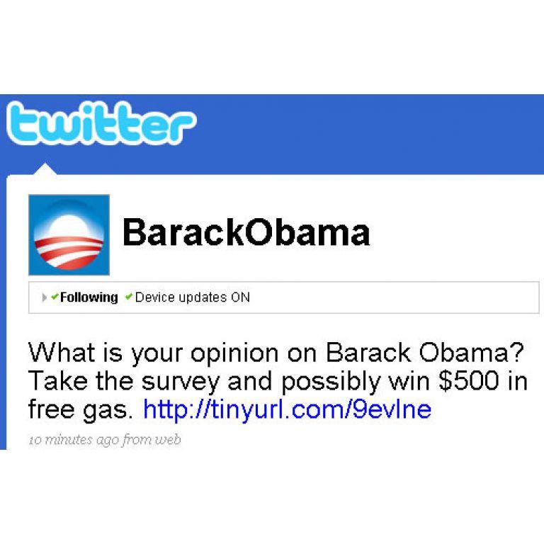 Obama y Britney Spears, pirateados en Twitter.