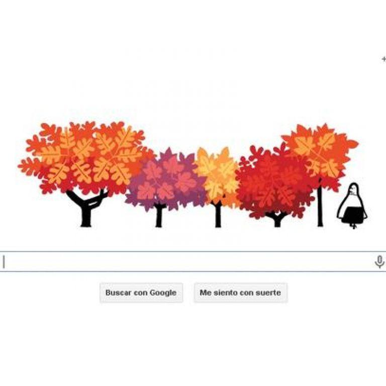Bienvenida al otoño con nuevo doodle