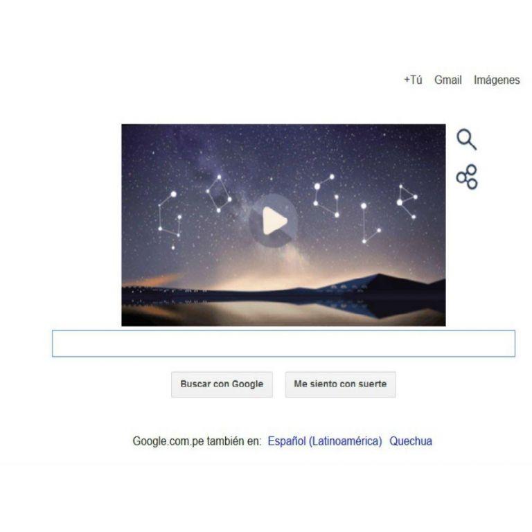 Llegó al doodle de Google una  lluvia de meteoros