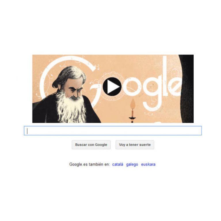 Google homenajea a León Tolstói