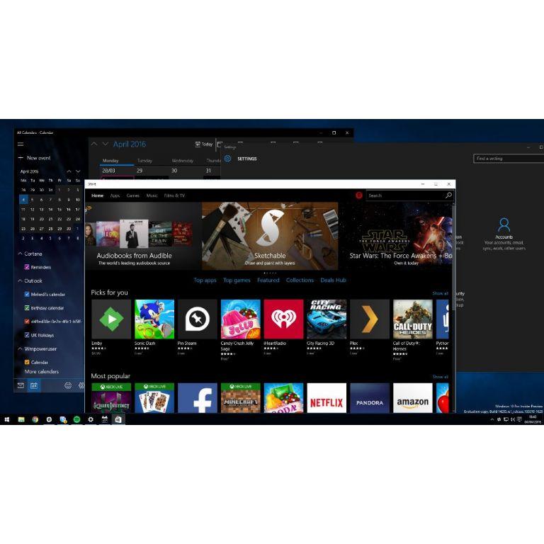 Windows 10 habilitará el tema oscuro con Anniversary Update
