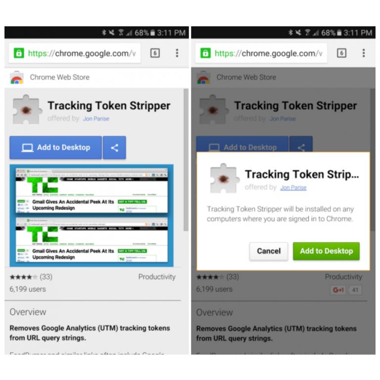 Ya puedes instalar extensiones para Chrome desde Android