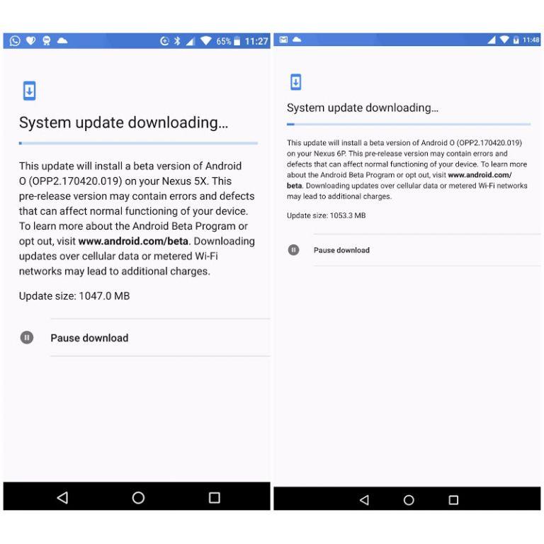 Android O permitirá pausar descargas de actualizaciones