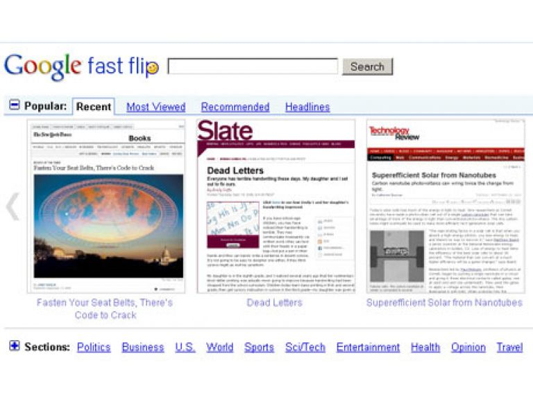Google presenta un servicio para ver la prensa estadounidense de un vistazo.