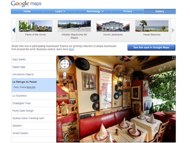 Street View permitirá visitar interiores de locales