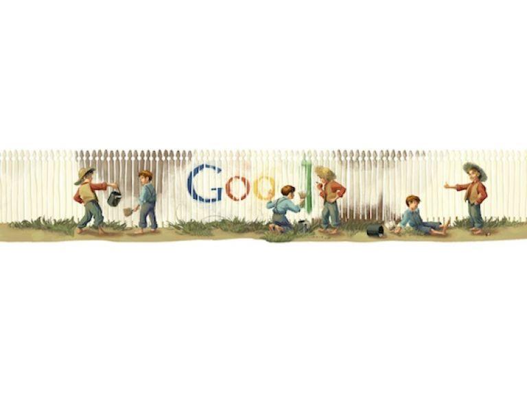 El doodle de hoy recuerda a Mark Twain