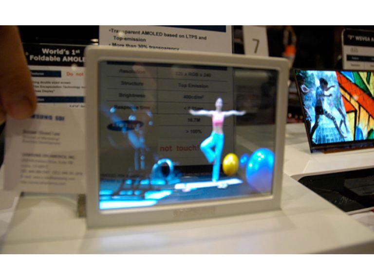 Samsung podría comercializar portátiles y MP3 con pantalla transparente en 2010.