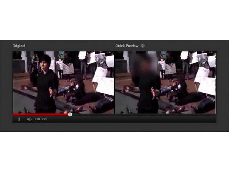 YouTube permite difuminar rostros.