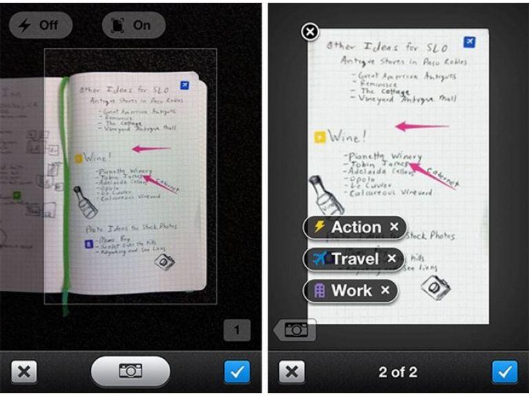 Evernote y Moleskine encuentran cómo combinar el papel con un smartphone.