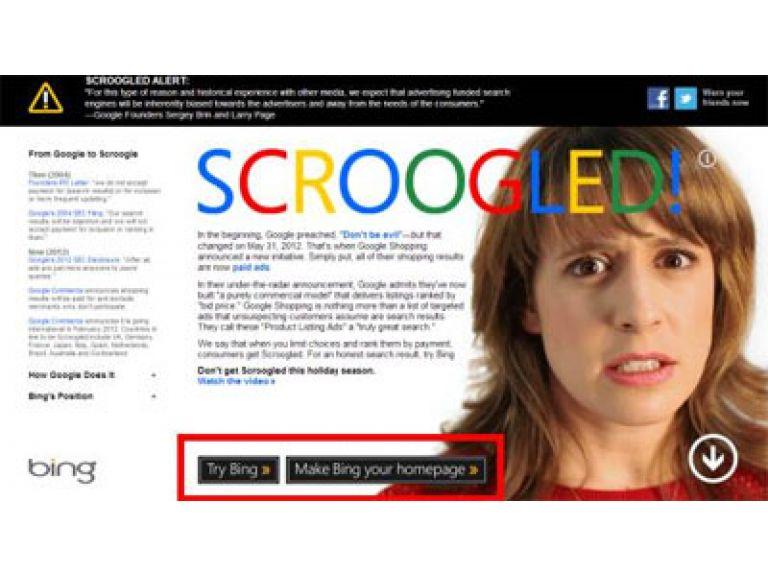 Microsoft inicia campaña que delata malas prácticas en el buscador Google