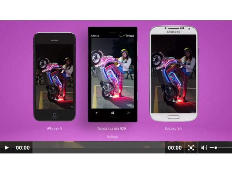 Nokia compara la cámara del Lumia 928 con la del Galaxy S4