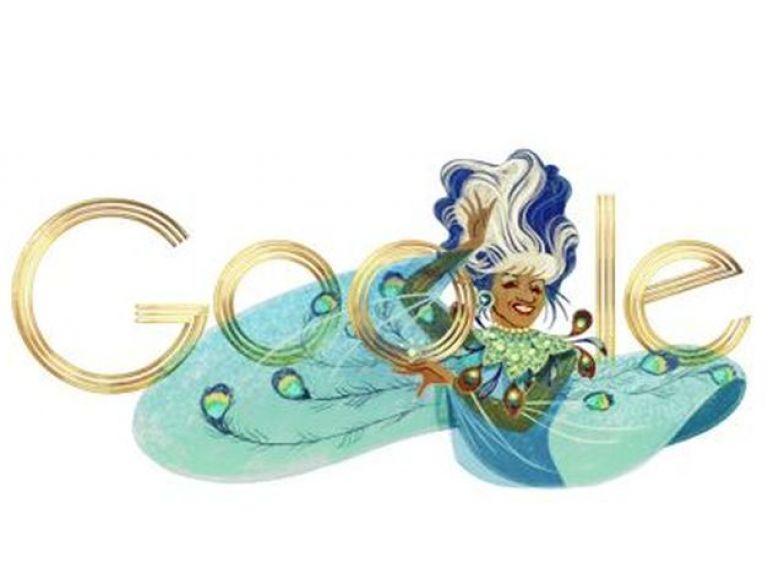 Celia Cruz en el doodle de Google