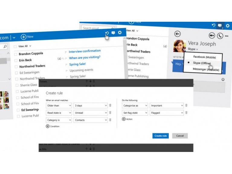 Nuevas funciones estrena Outlook.com