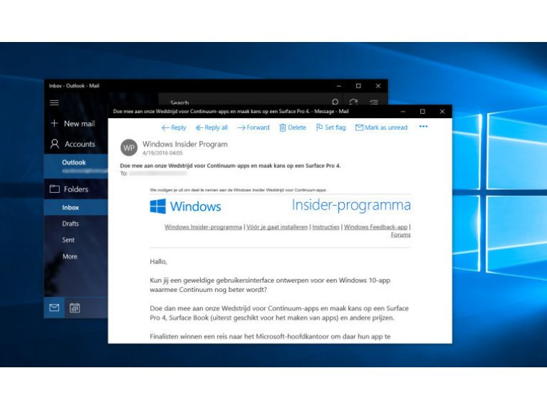 Outlook y OneNote se actualizan con varias novedades en Windows 10