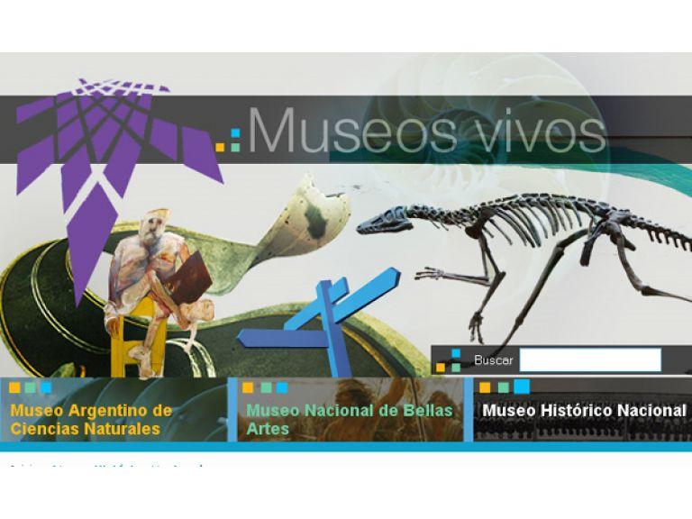 Tres museos, a la web