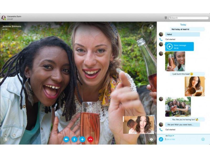 Las aplicaciones de Skype para PC y Mac son redise�as
