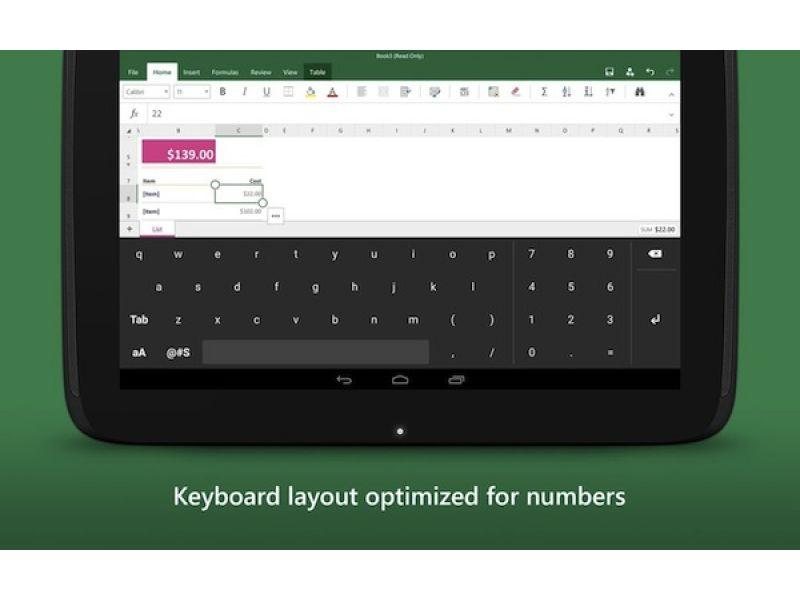 Para usuarios de Excel en Android, Microsoft lanza un teclado