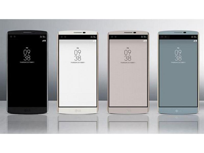 LG present� el V10, un celular con doble pantalla frontal