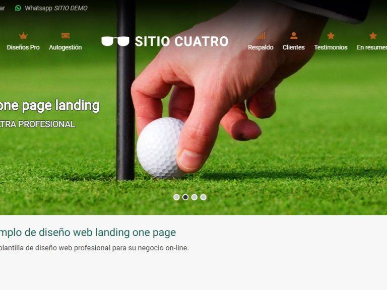 LANDING 4 . Plantilla landing page, demo de diseño web