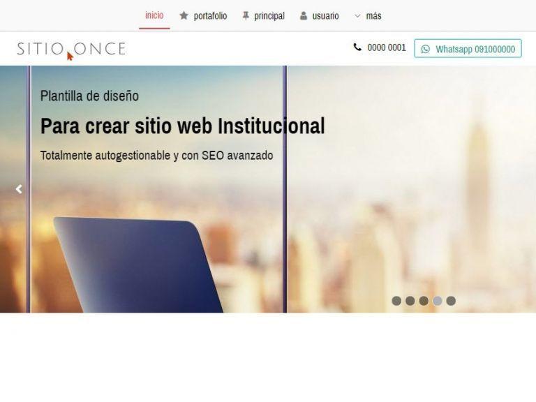 Demo 11 sitio web institucional. - INSTITUCIONAL 11 . Diseño sitio web institucional