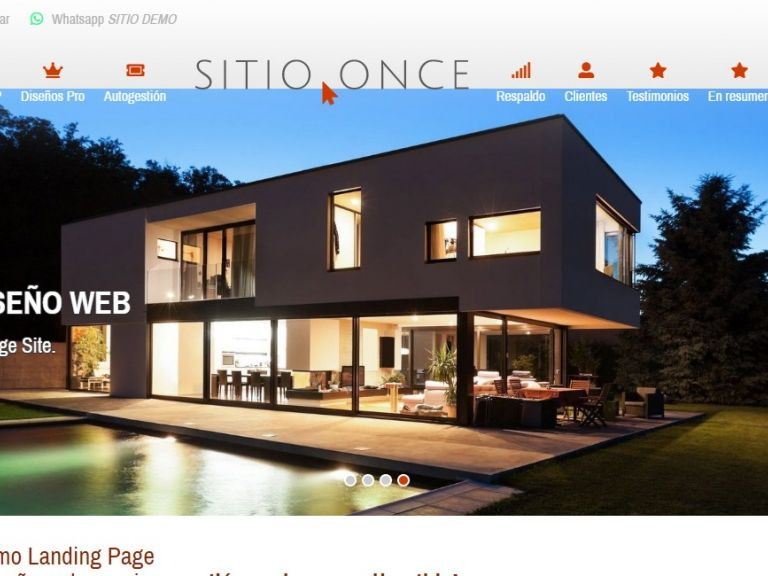 Diseño web landing 11. - LANDING 11 . Demo de diseño web landing page
