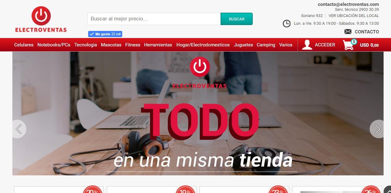 Diseño de Tienda online de productos informáticos y computación