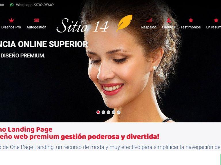 Landing demo 14, ejemplo de diseño web - LANDING 14 . Ejemplo web diseño landing page