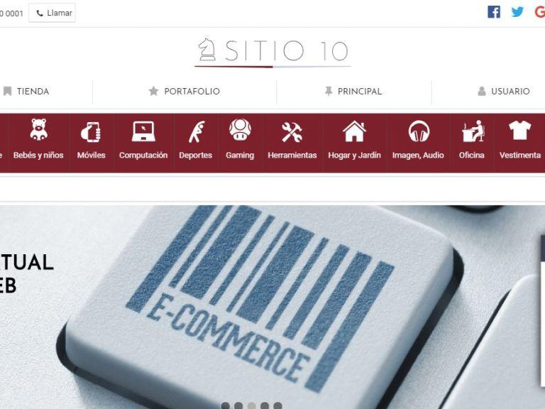 Sitio web para crear su nueva tienda virtual online de productos. - TIENDA 10 . tienda virtual