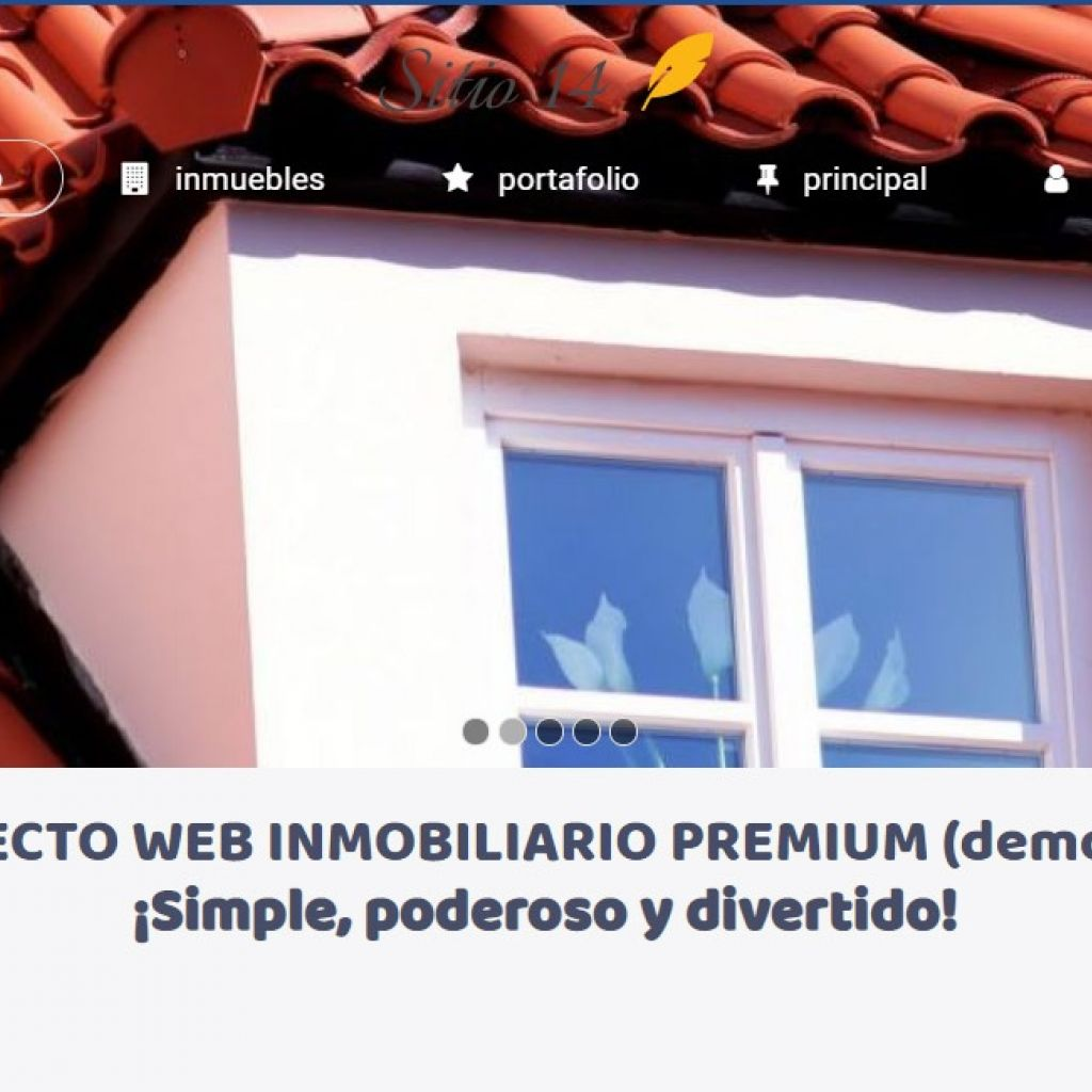 Template diseño web inmobiliaria online.