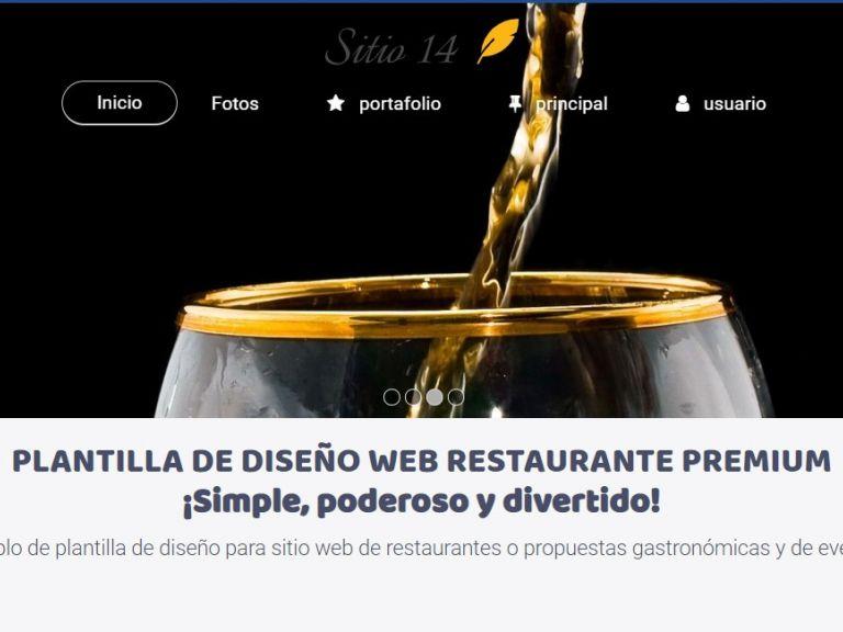 Template restaurante #14. - RESTAURANTE 14 . Diseño sitio web institucional