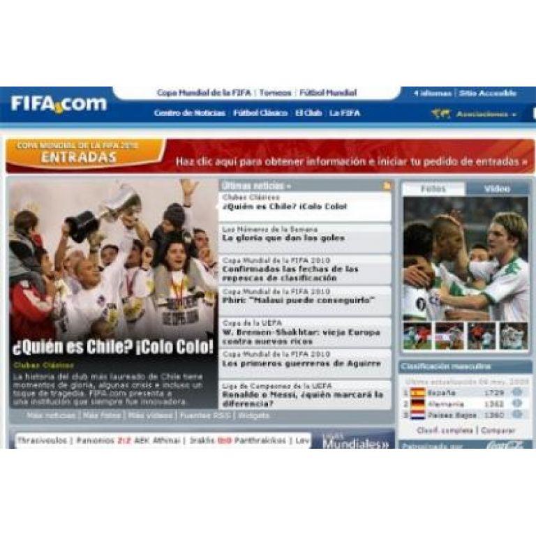 El sitio web de la FIFA rompe récord de visitas