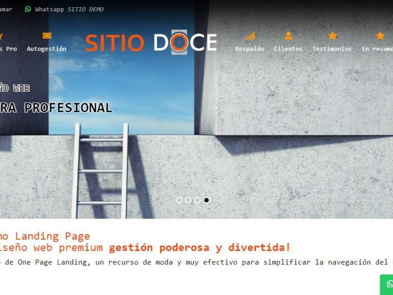 LANDING 12, template de diseño web landing page