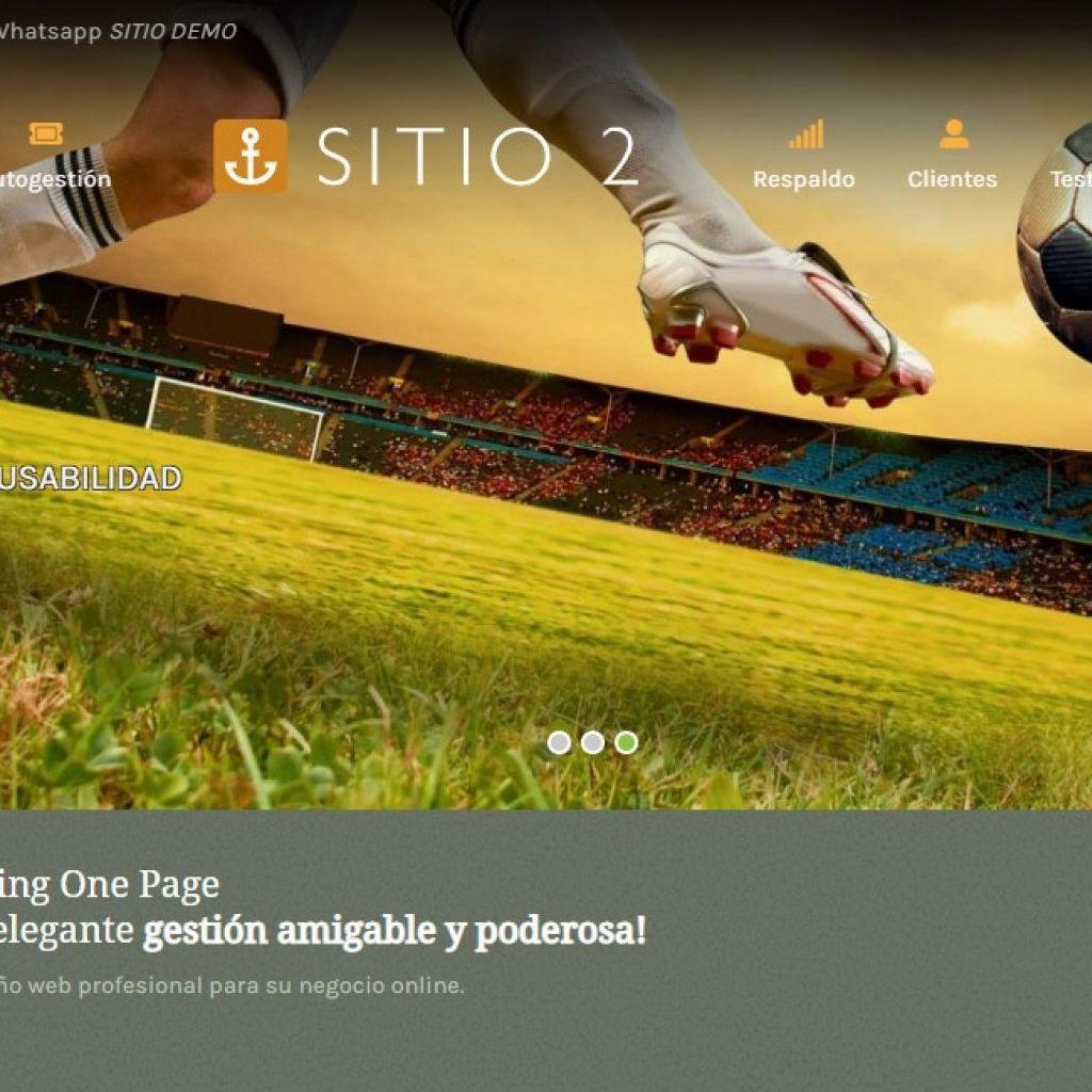 Demostración de diseño web landing one page.