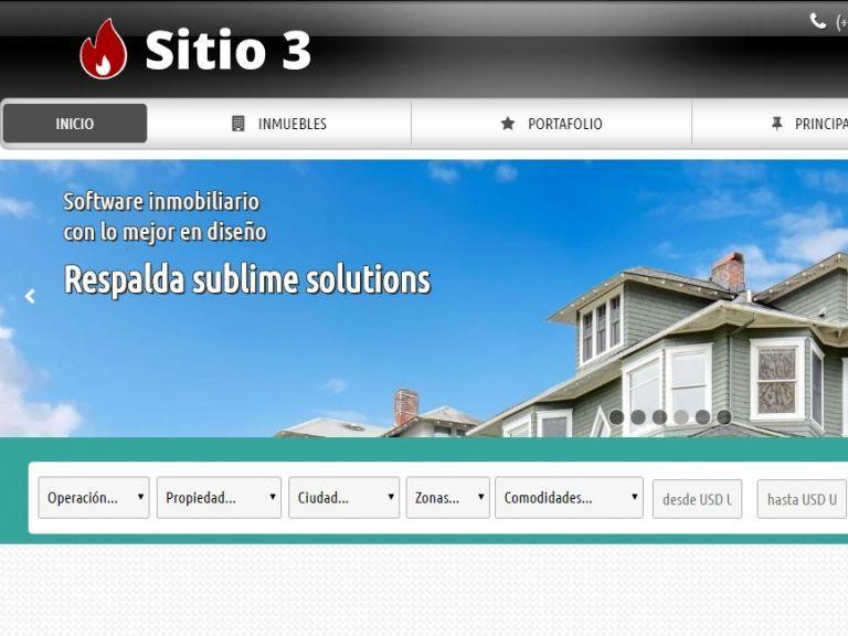Plantillas profesionales de diseño para resultados superiores. - DEMO 3 . Sitio web inmobiliario