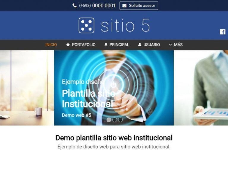 Template de diseño web para sitio institucional. - INSTITUCIONAL 5 . Diseño sitio web institucional